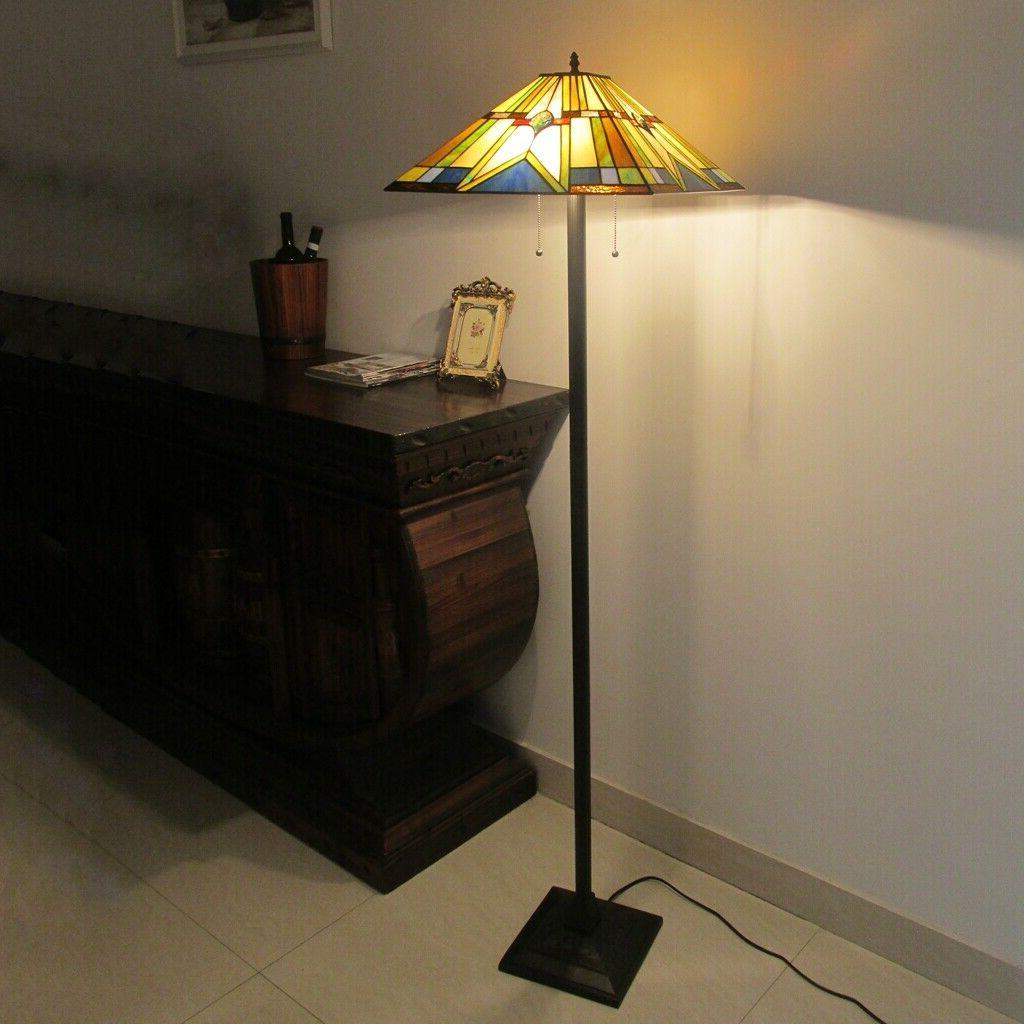 Tiffany Style Floor Mission Stained Floor Standing Lighting UL
