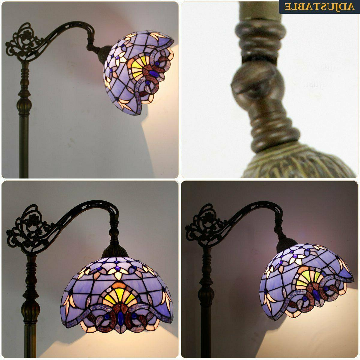 """Tiffany Style Lamp Blue Stained 64"""""""