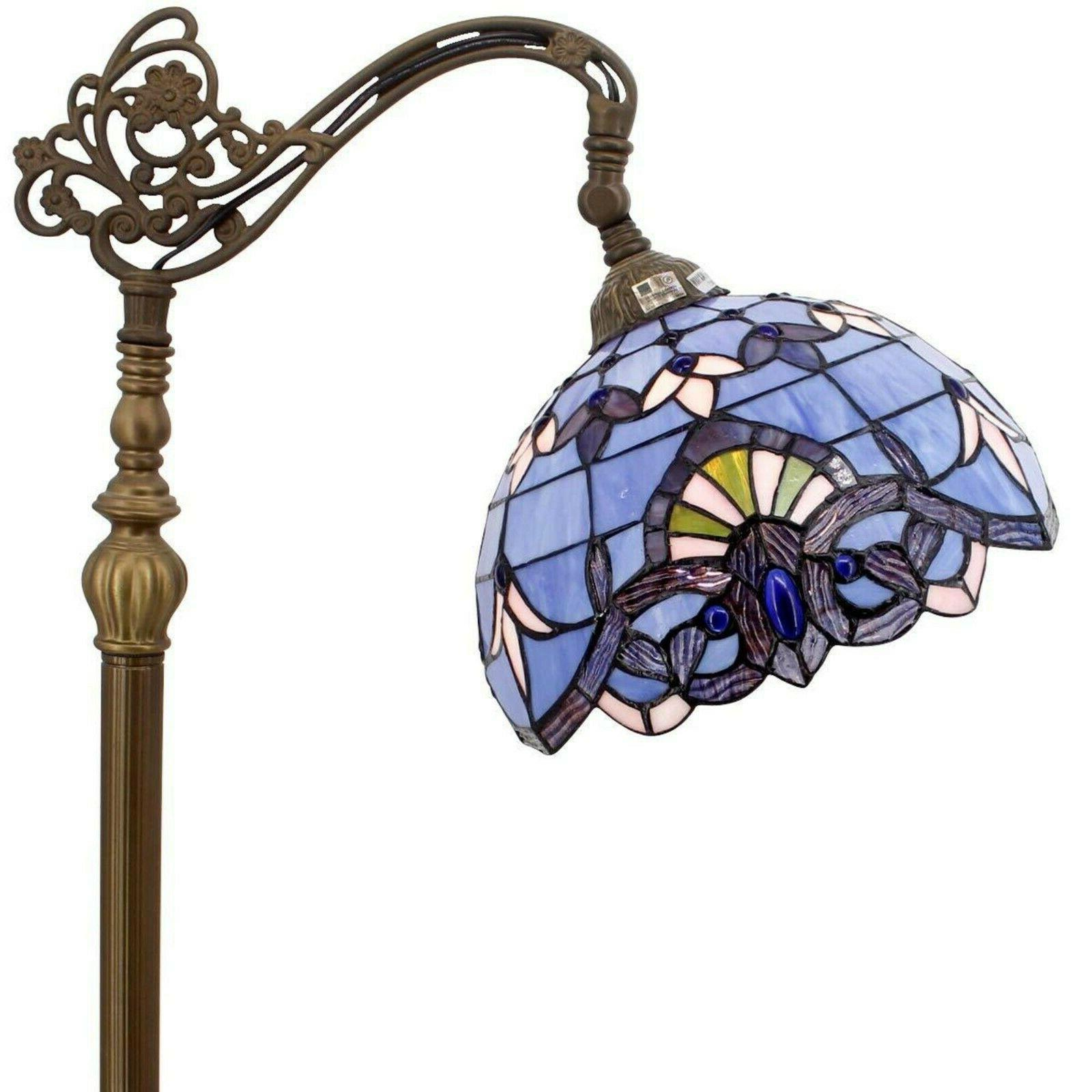 Tiffany Reading Floor Lamp Stained Glass High