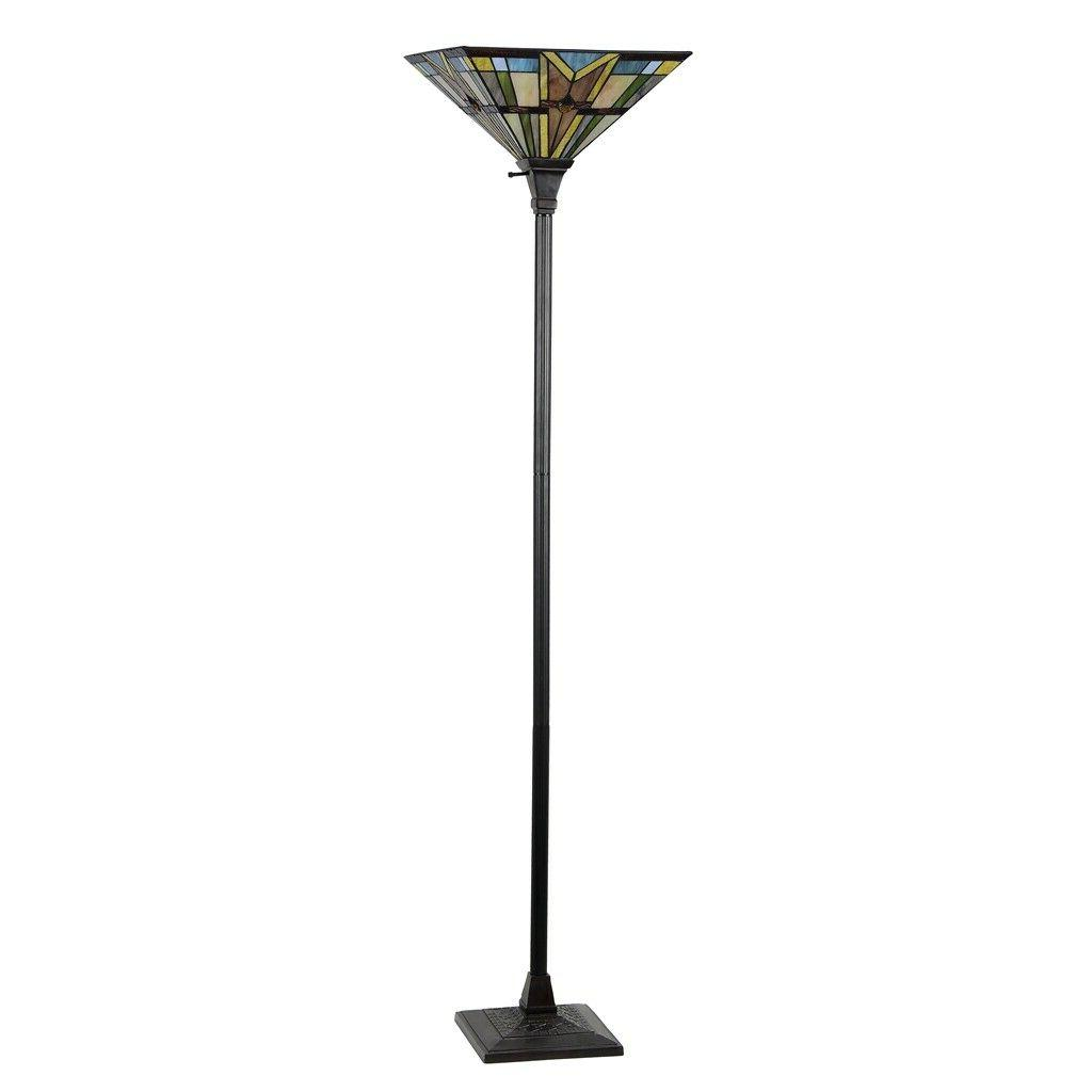 Tiffany Style Glass Mission 14""
