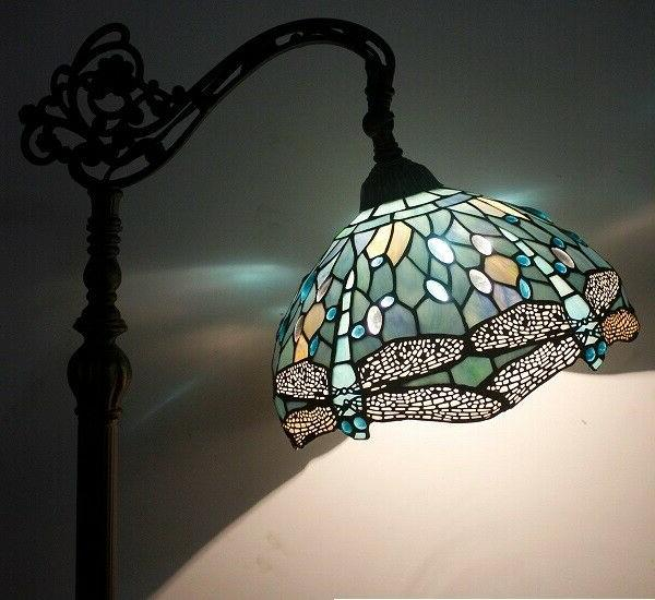Dragonfly Floor Tiffany Shade Bronze Base