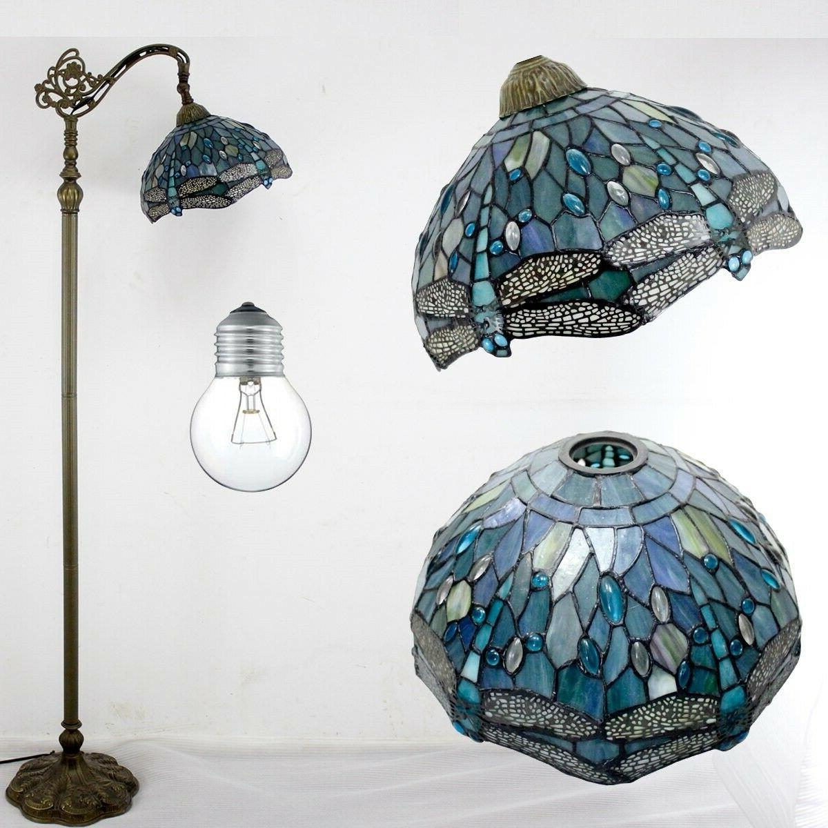 Dragonfly Tiffany Style Glass Shade Base