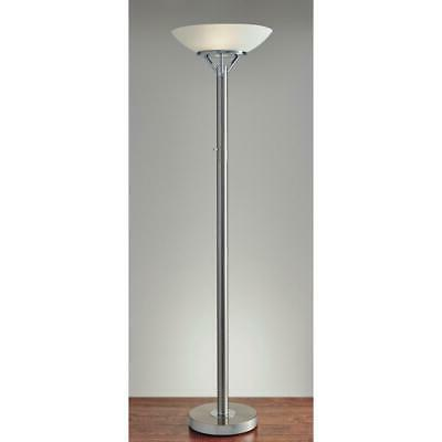 Adesso Torchiere 71 in. Stainless Steel