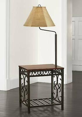 traditional floor lamp end table bronze swing