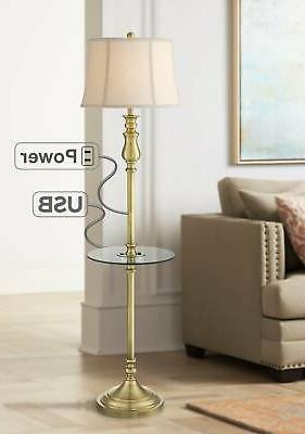 traditional floor lamp with table usb outlet