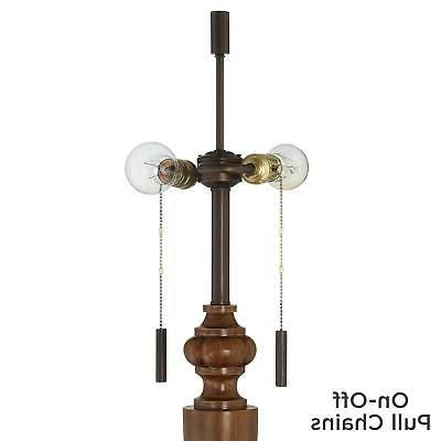 Traditional Rustic Floor Lamp with Bronze Wood