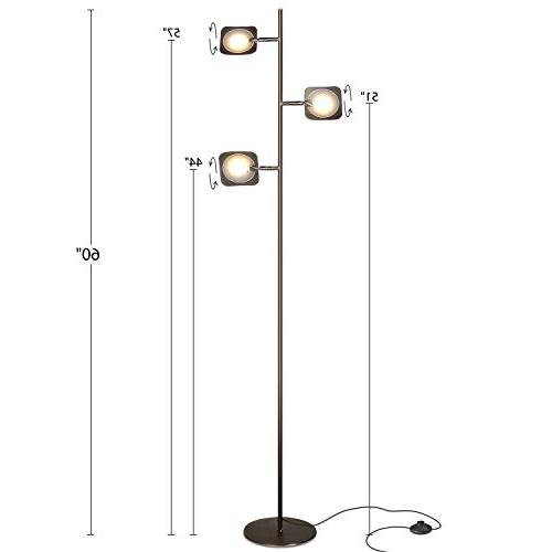 Brightech Spotlight Floor Lamp - Very Bright Reading, and Makeup Light Pole - Dimmable & Adjustable Panels, Space Use