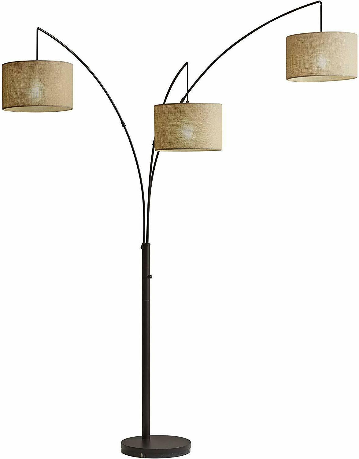 trinity 82 arc floor lamp antique bronze