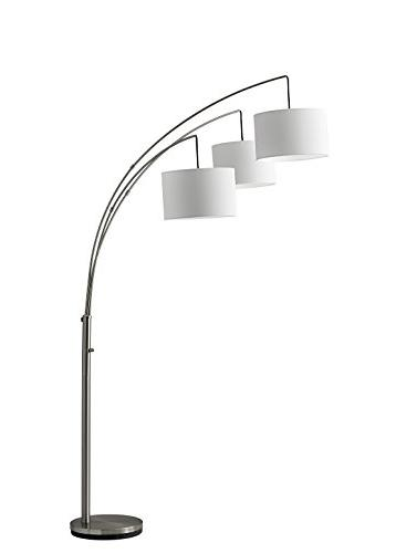 Adesso Floor Lamp Steel Color, Antique Finish, Proof Equipment. Decor