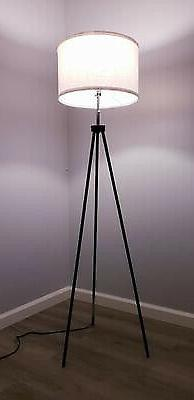Tripod Lamp Tall Modern Standing Black For Living
