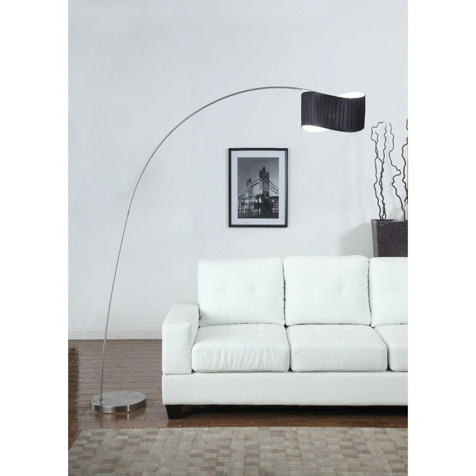 Artiva USA 'The Curve' 81-inch Black Curved Shade Brushed St