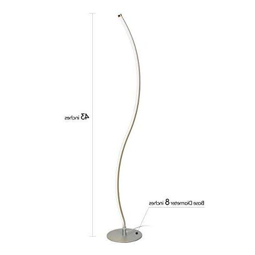 Brightech Lamp – Contemporary Modern Tall Standing with Living Room, Office, Dorm -