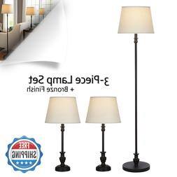 Better Homes and Gardens 3-Piece Lamp Set 1 Floor and 2 Tabl
