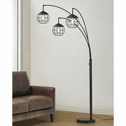 "Longshore Tides Leon Metro 84"" Tree Floor Lamp Dark Bronze/"