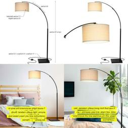 Brightech Logan LED Arc Floor Lamp with Marble Base - Living