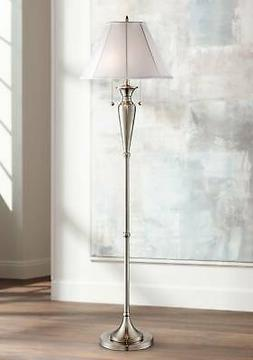 lucent brushed steel floor lamp