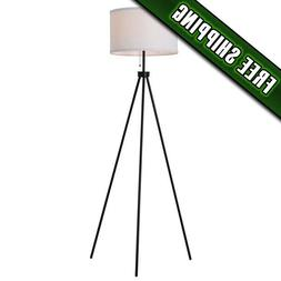 "Mainstays 58"" Metal Tripod Floor Lamp, Black"