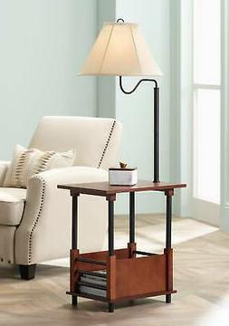 Marville Mission Style Floor Lamp With End Table