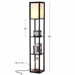 Brightech - Maxwell LED Shelf Floor Lamp Modern Asian Style