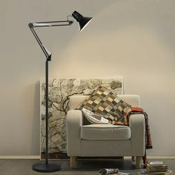 Home LED Floor Lamp Adjustable Goose Neck Standing Lamp With