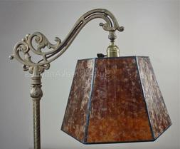 Mission Arts & Crafts Mica Bridge Floor Lamp Shade Amber Tai