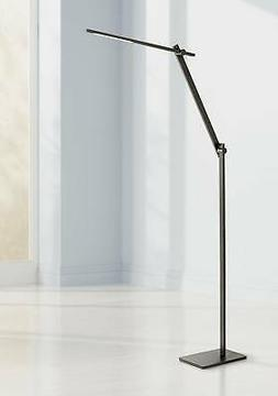 Modern Floor Lamp Adjustable LED Anodized Black Touch Switch