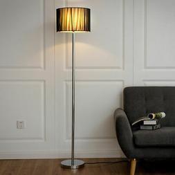 Modern Floor Lamp Sheer Shade Lighting Livingroom Bedroom w/