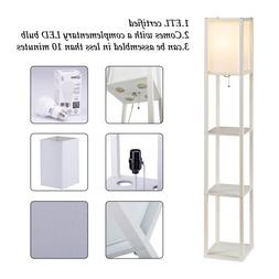 Modern Shelf Floor Lamp Light Home Living Room Bedroom 3 Sto