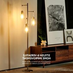 Modern Shelf Floor Light Off White Lamp Shade Storage Bed Li