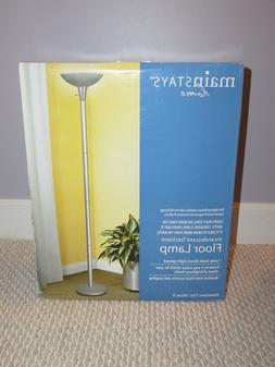 "NEW 72"" Silver Incandescent Torchiere Floor Lamp"