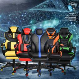 Office Gaming Chair Racing Ergonomic Swivel High Back PU Com