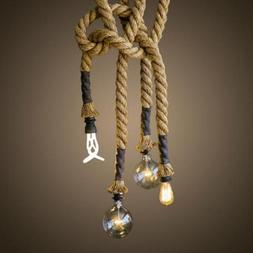 LightInTheBox Retro 1 Lamp Hemp Rope Chandelier Retro Countr