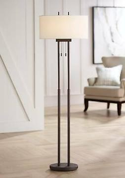 Roscoe Bronze Twin Pole Floor Lamp