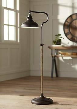 Rustic Farmhouse Pharmacy Floor Lamp Downbridge Bronze Faux