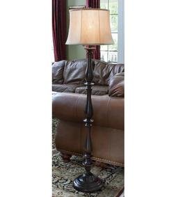 Set of Two J. Hunt Home Woodbine 61-in 3-Way Bronze Shaded F