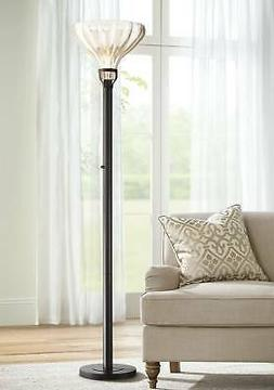 shelby mercury glass torchiere floor lamp