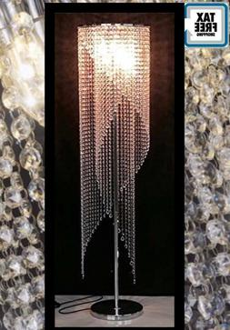 Silver Crystal Floor Lamp Lighing Ligt Shape Contemporary Ra