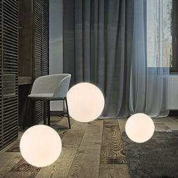 Simple Design Globe Glass Shade White Floor Lamp Light Round