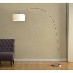 Artiva USA SK-3939ST Adelina Arched Brushed Steel Floor Lamp