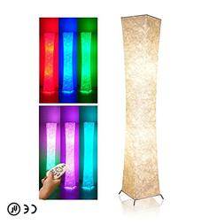"Soft Light Floor Lamp, 52"" LEONC Twist Tower Morden Slim RGB"