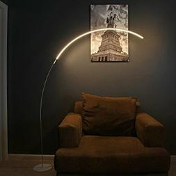 Brightech Sparq Arc LED Floor Lamp - Modern Over The Sofa Li