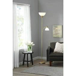 Tall Floor Lamp For Reading Living Room Bedroom Modern Gold