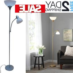 Tall Floor Lamp For Reading Living Room Bedroom Modern Silve