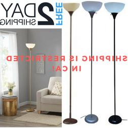 Tall Floor Lamp Uplight For Living Room Bedroom Grey Silver