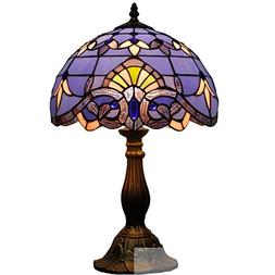Blue Purple Baroque Tiffany Style Table Lamps Lighting W12H1