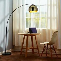 Versanora VN-L00012 Arquer Arc Floor Lamp with Gold Shade an
