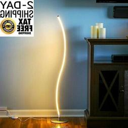 Brightech Wave LED Floor Lamp – Dimmable Urban Contemporar