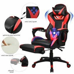 Video Massage Gaming Chair High-Back Ergonomic Pu Leather Ra